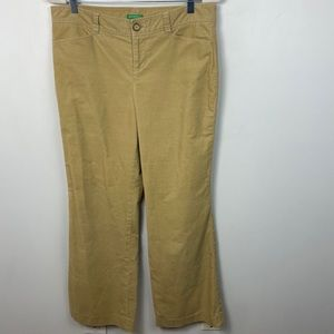 Lilly Pulitzer Tan Wide Leg Corduroy Pants Size 10